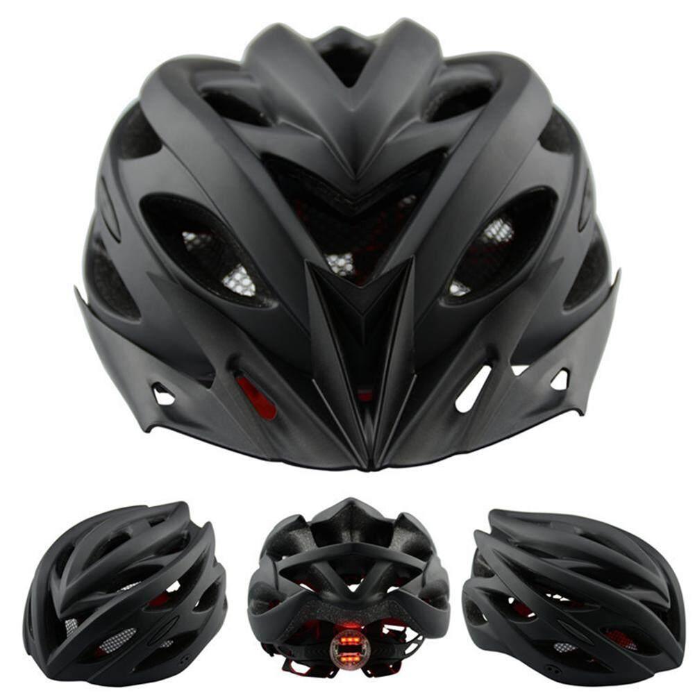 Xe Frosted Helm Sepeda dengan Lampu Sepeda Jalanan Pelindung Topi Aksesori Sepeda Gunung - 3