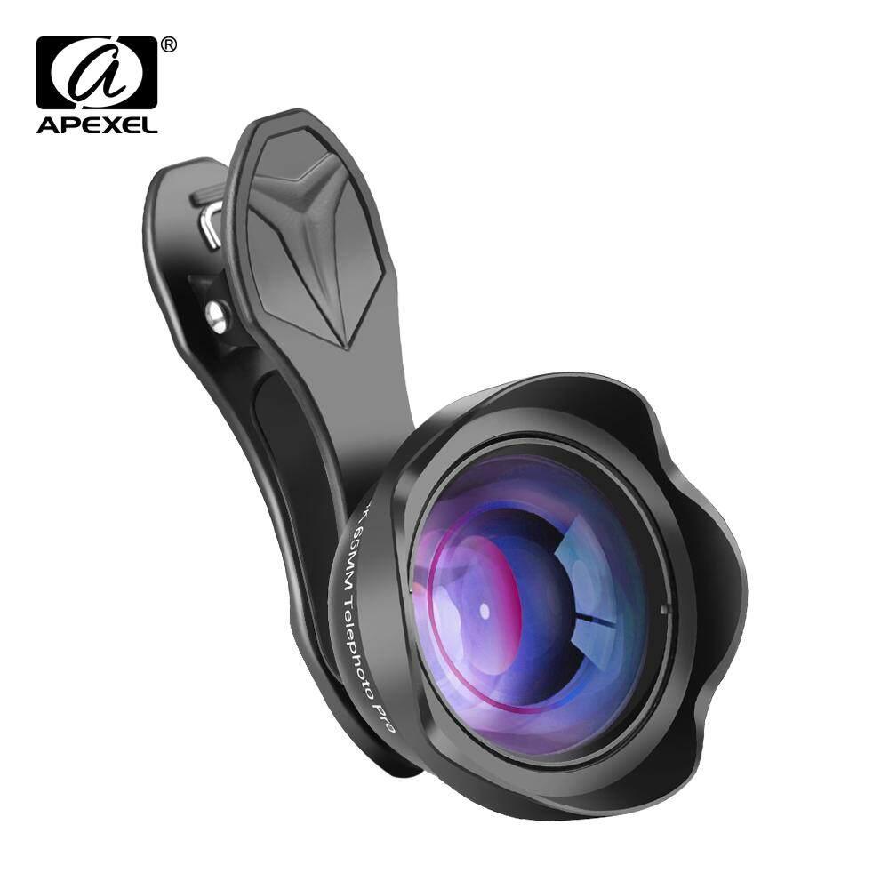 APEXEL Profesional Telepon Lensa Kamera 3X HD SLR Teleskop Lensa Potret Bokeh untuk iPhone 8/7 Plus Xiaomi Lebih Smartphone 65 Mm