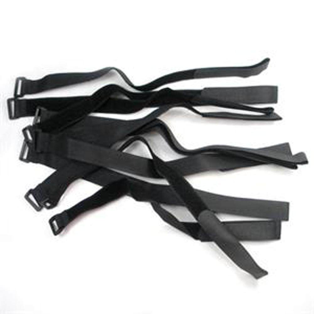 Bzy 10 Pcs 20x450mm Velcro Tie Down Straps Cam Buckle Wrap Band Luggage Strap Black By Beautyzy.