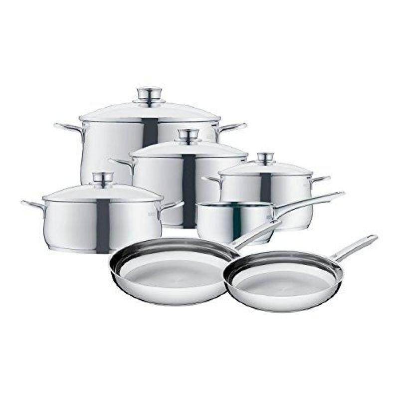 WMF Diadem Plus 11 pc Stainless Steel Cookware Set, Silver, 11 pc set Singapore