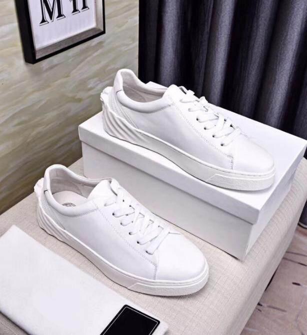 2018 Versace Baru Sepatu Pria Mewah Kulit Sepatu Kasual/Medusa Olahraga Sepatu Pria