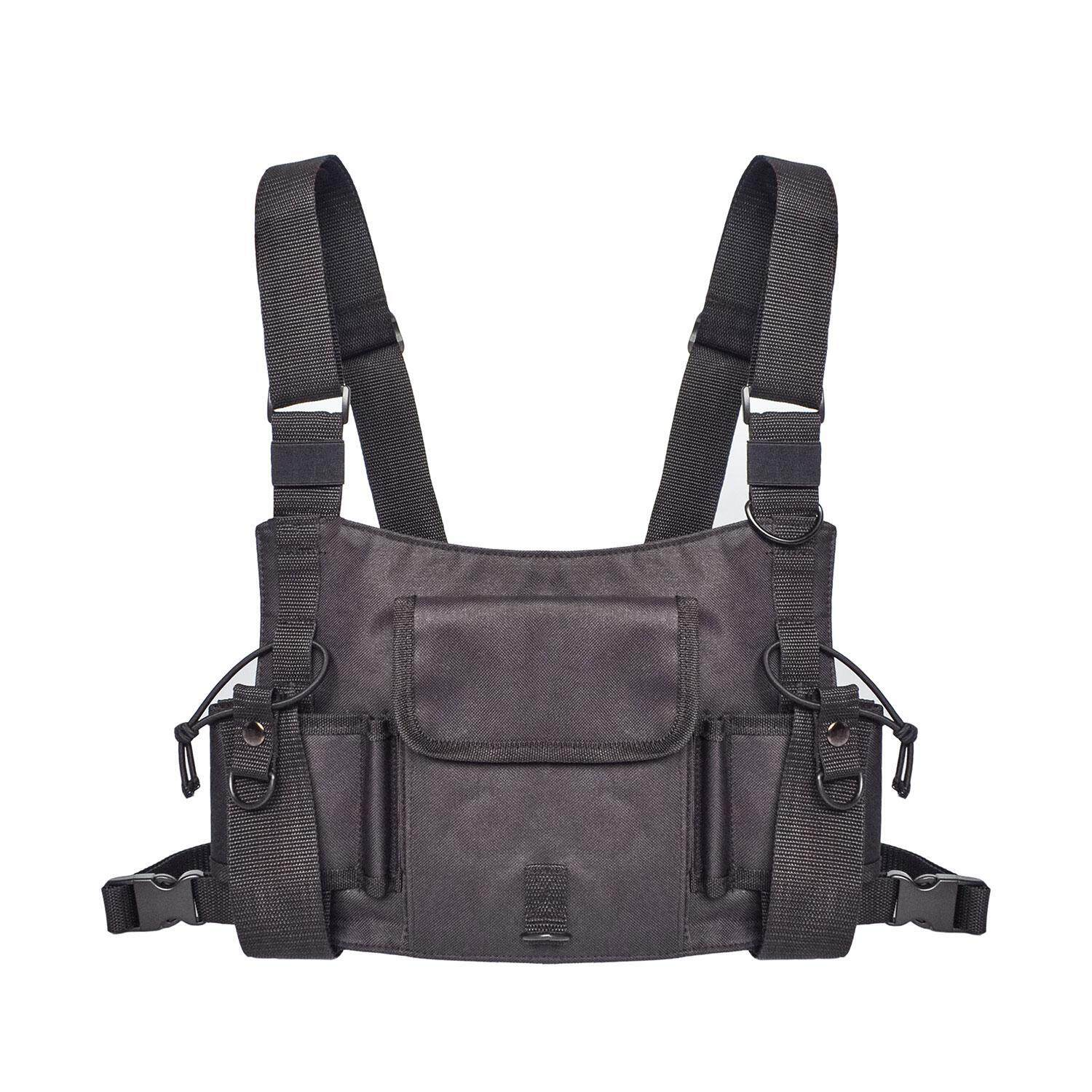 Niceeshop Universal Radio Wireless Caller Harness Chest Rig Pack Pocket Bag Holster Vest By Nicee Shop.