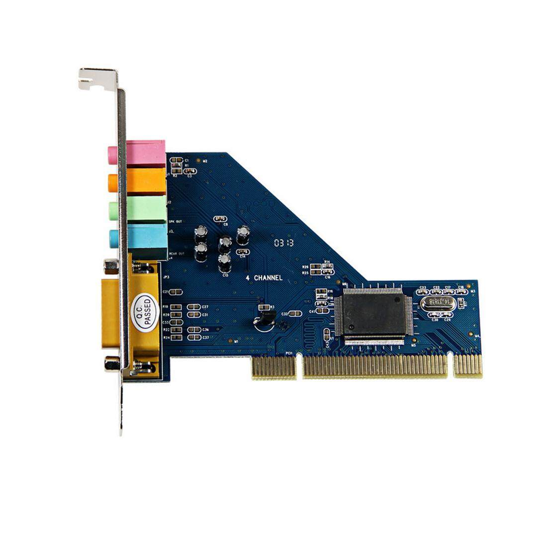 4 Channel 8738 Chip 3d Audio Stereo Pci Sound Card For Win7 64 Bit By Hhhappy Store.