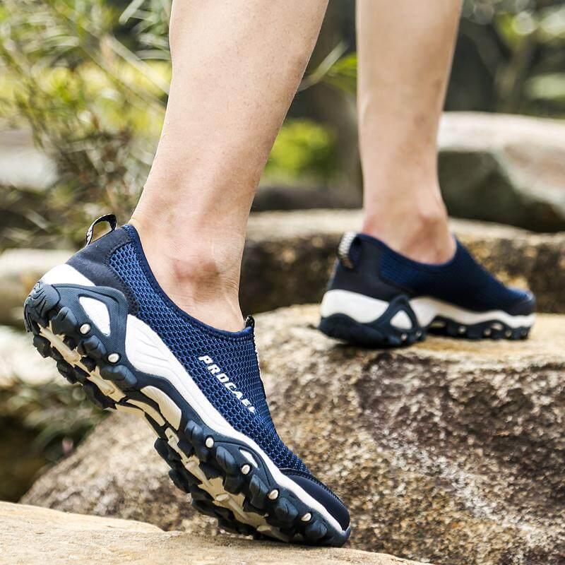 YEALON Hiking Shoes Men Men Outdoor Sneakers Breathable Outdoor Sports Camping Shoes Hiking Shoes Waterproof For Men Tactical Hiking Upstream Shoes Sports Sneakers Shoes - 2