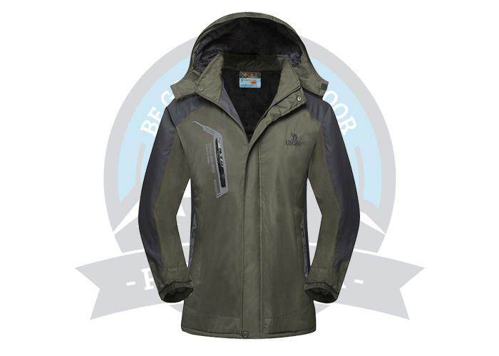 [ BEST SELLER ] CEGAG Thermal Windbreaker Jacket Men And Women Outdoor Windbreaker Jacket Hiking Camping Windbreaker - Army Green