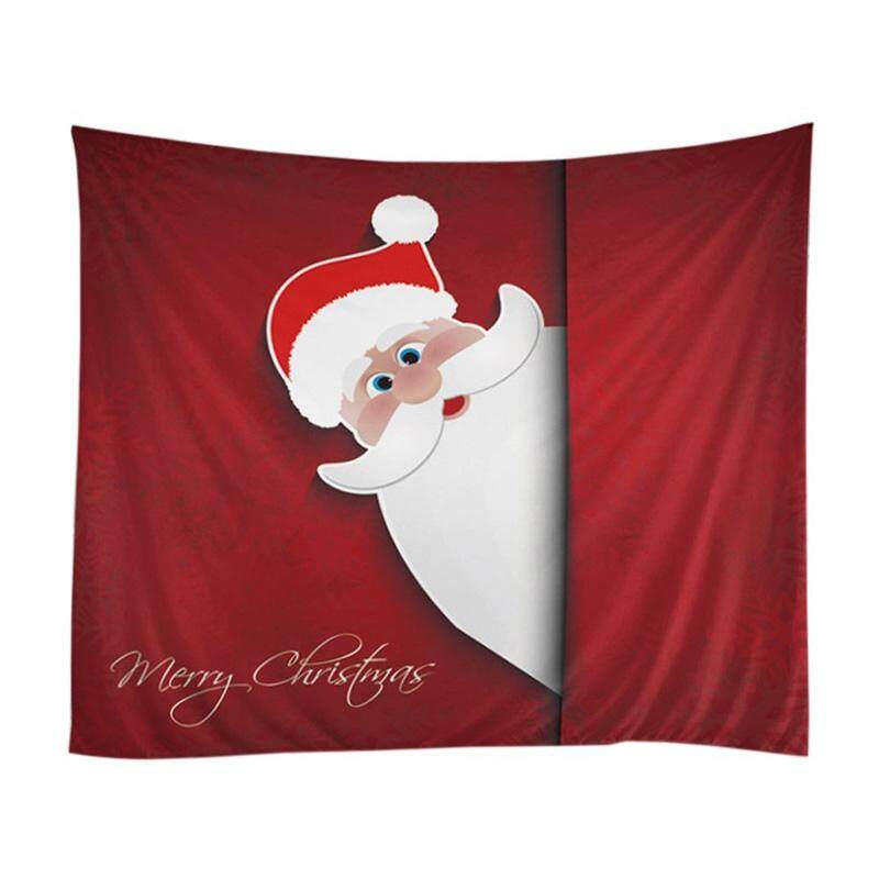 Red Santa Claus Christmas theme Tapestry Wall Hanging Indian Wall Art