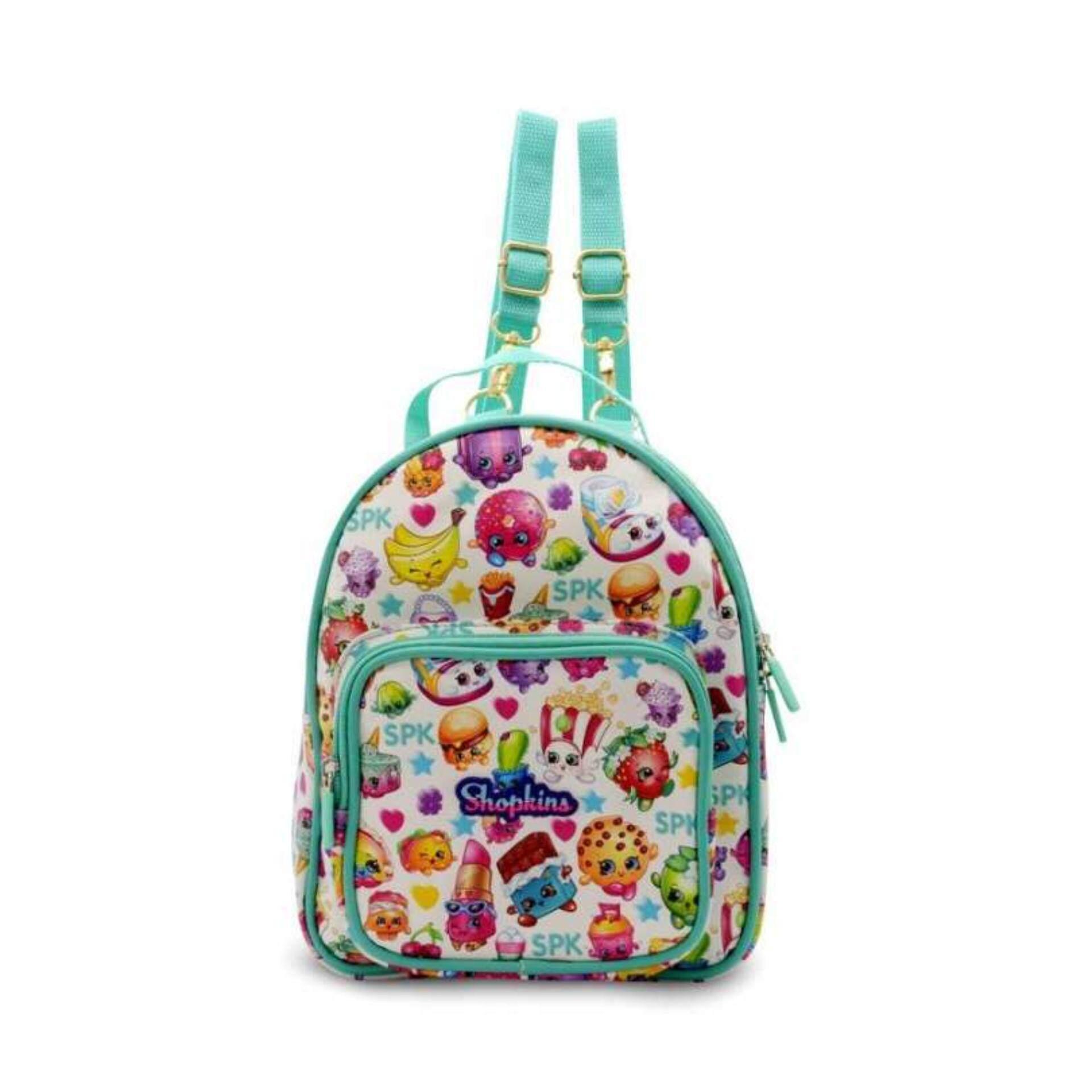 Shopkins Backpack School Bag 10 Inches - Light Blue Colour