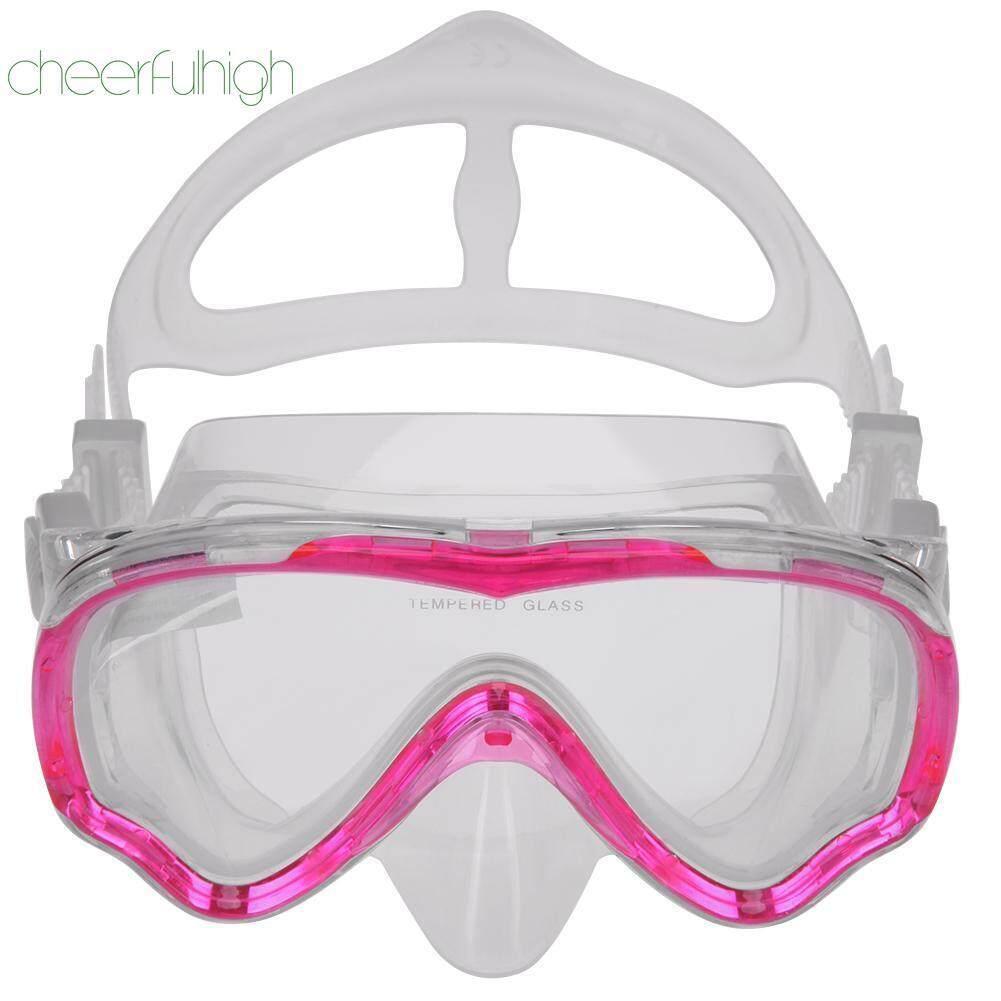 Silicone Swimming Diving Mask Tempered Glass Lens Adult Full Dry Anti-fog - intl