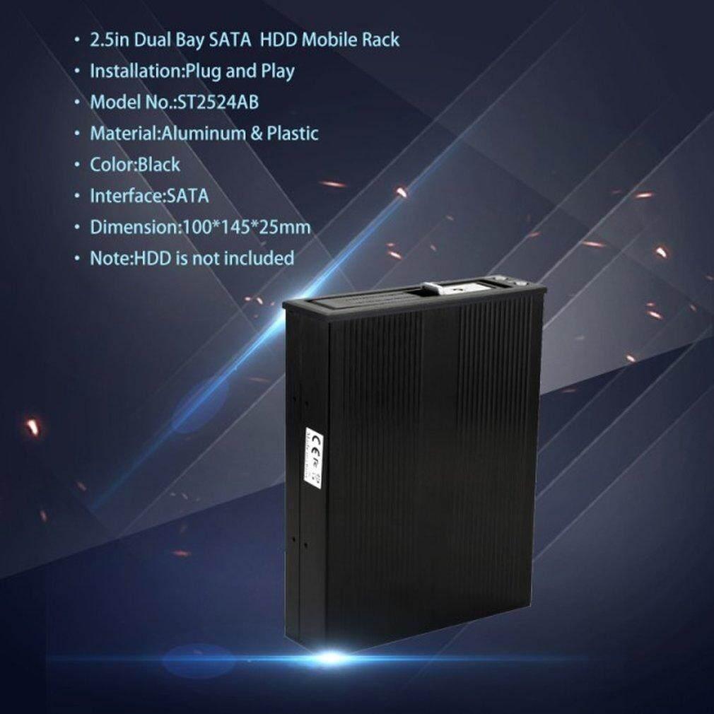 3.5in SATA Aluminium Sarung Perangkat Keras HDD Lampiran Internal Hot Swap SATA HDD Rak Mobile dengan Kipas Angin Pendingin
