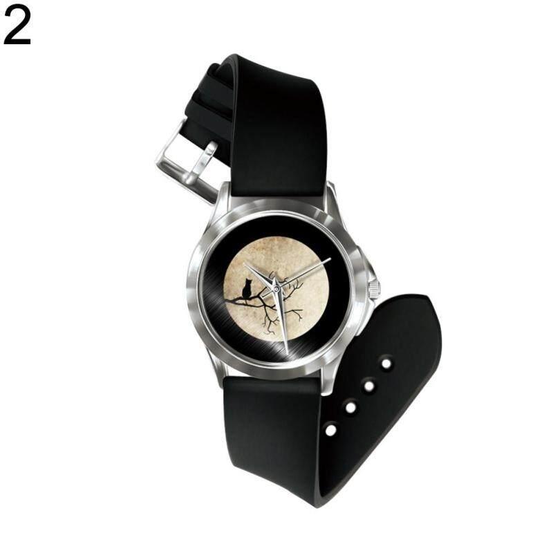 Phoenix B2C Girl Boy Cartoon Owl Watch Analog Display Faux Leather Quartz Wrist Watch (2#) Malaysia