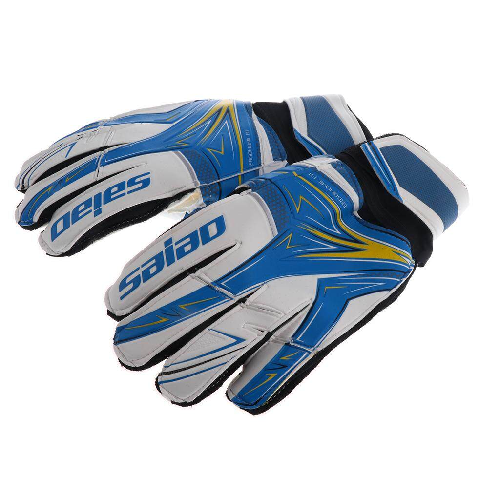 Miracle Shining Soccer Goalie Goalkeeper Gloves Pro Football Finger Saver For Youth Blue By Miracle Shining.