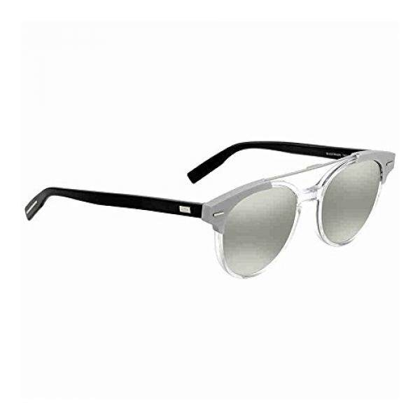 Christian Dior Black Tie 220/S Sunglasses Crystal Black / Silver Mirror
