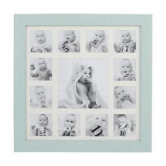 ซอเลย Beriwinkle Baby Photo 13 Opening My First Year Collage Frame