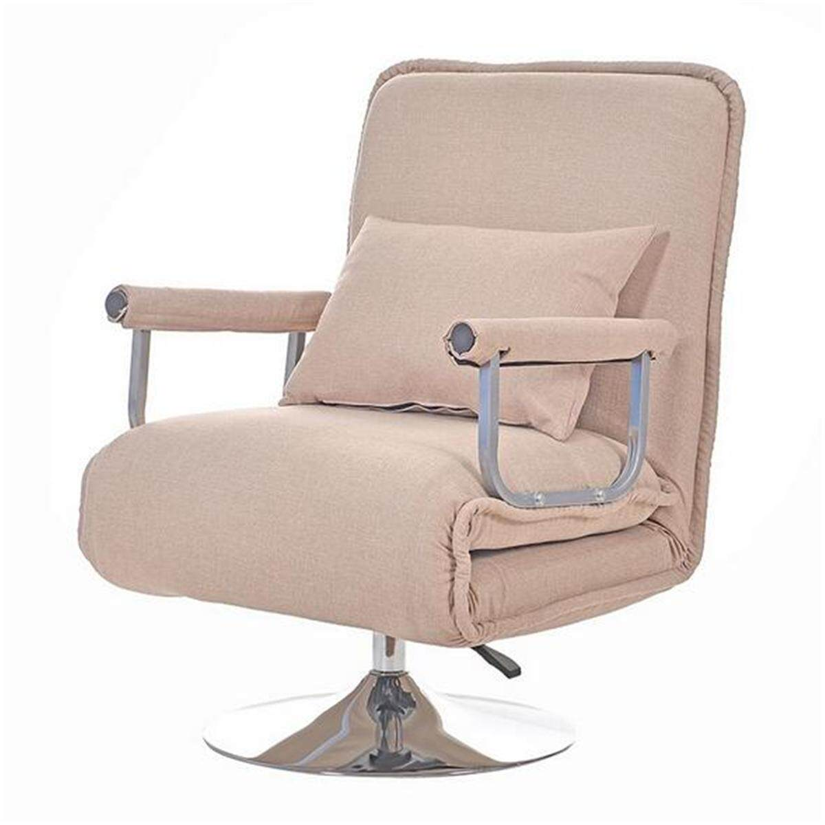 Convertible Rotation Sofa Bed Folding Arm Chair Sleeper Recliner Lounge Couch