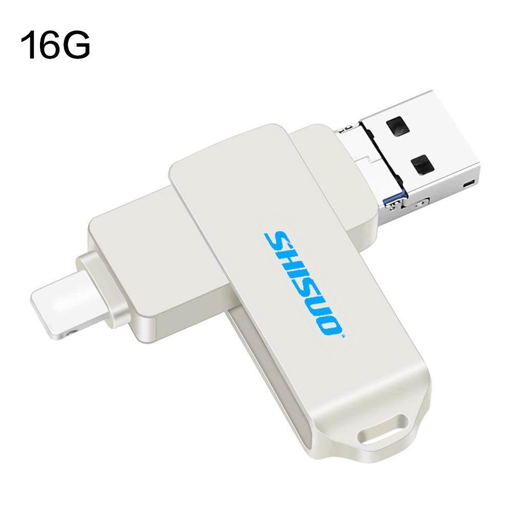 Kgl Flash Drive USB Flashdisk OTG 3-In-1 USB Flash Disk untuk Apple iPhone Memori Stik 16G 32G 64G 128G Mewah Android USB 2.0 Flashdisk Aku Mengemudi