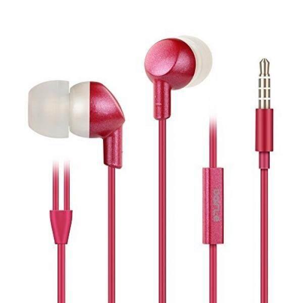 In Ear Headphones Stereo Kecil Ukuran Telinga Sumbatan Telinga dengan Mikrofon untuk iPhone 6/6 S/Plus Samsung Ponsel Android, kebisingan Isolating Headphone, Suara Jernih, Kenyamanan Ergonomis-FIT (Dairle Pink)/dari Amerika Serikat