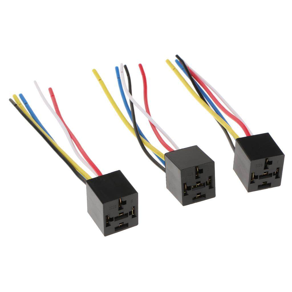 Car Relays For Sale Automotive Online Brands Prices Wiring A Changeover Relay Miracle Shining 3pcs Prewired 5 Pin Harness Socket Holder 40a 12v 24v