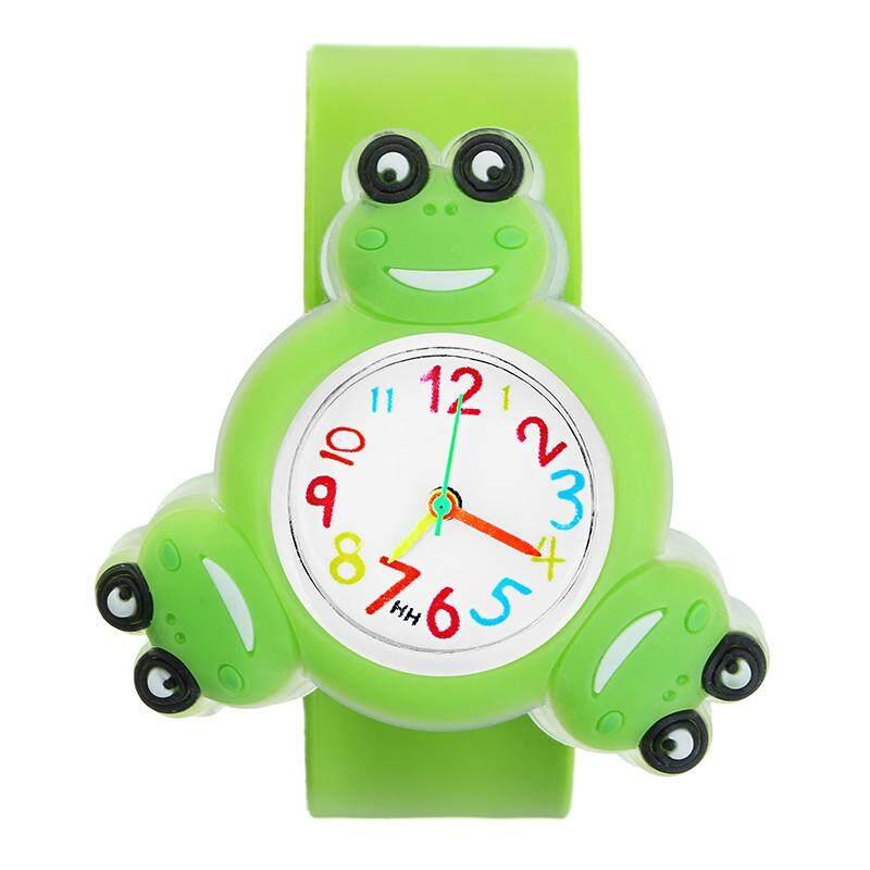 Nơi bán LED 3D Xoay đồng hồ hoạt hình trẻ em Ếch Vịt vàng Quà Tặng Được Thiết Kế Nam Nữ Đồng hồ đeo tay