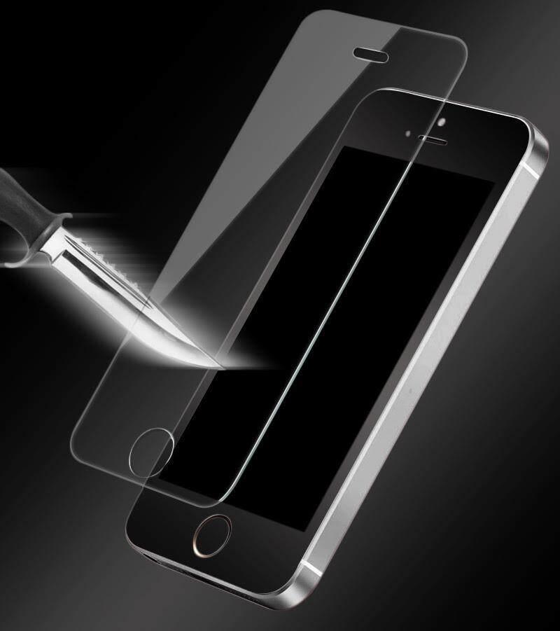 M_home untuk iPhone 5/5 S Anti Ledakan Debu 9 H Kaca Antigores Perlindungan Menyeluruh Pelindung Layar Tanpa Paket-Intl