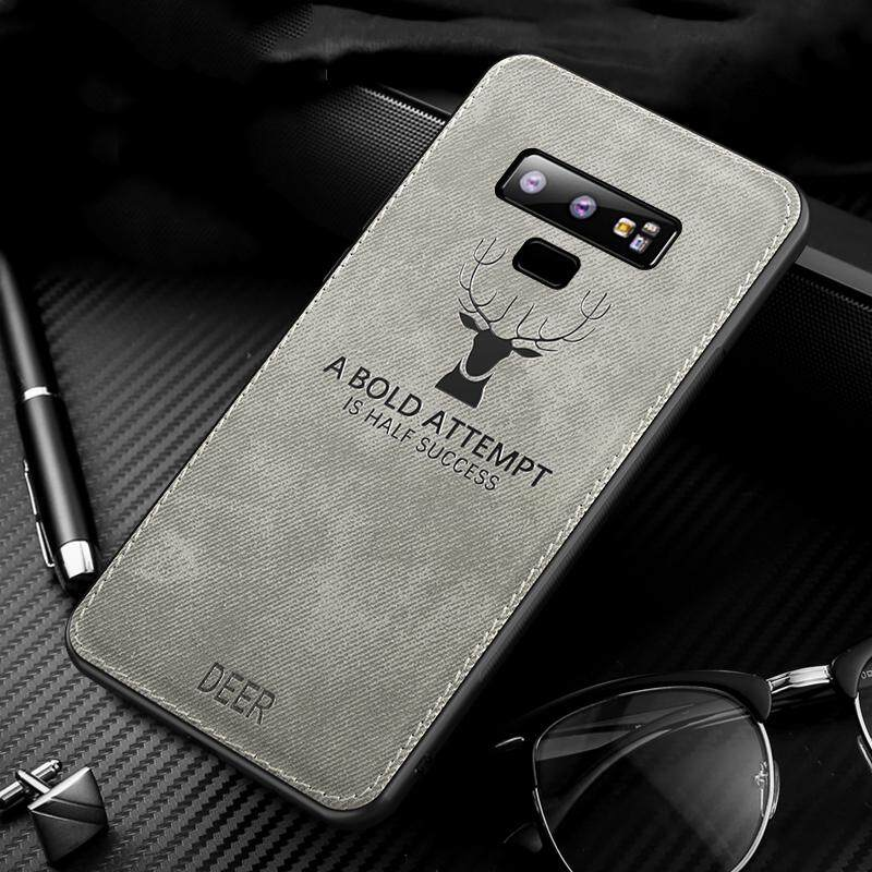 Kain Rusa Casing Lembut Ponsel untuk Samsung GALAXY Catatan 9 Pola Silicon Tpu Kain Tekstur Penutup Belakang untuk Samsung GALAXY Catatan 9