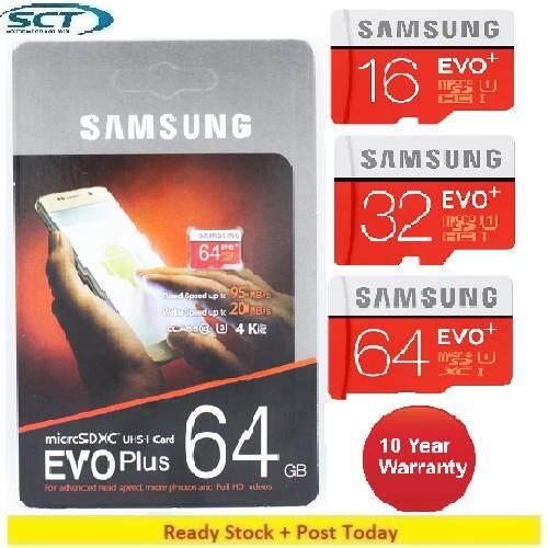 Original Samsung Evo Plus U1 Class 10 Memory Card