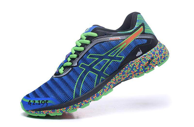 Hard-Wearing FlyteFoam Running Shoes Sneakers New Style Non-Slip Men's NYLON Authentic CUPSOLE Sports Shoes Asics-Onitsuka-Tiger DynaFlyte Blue Green EU:40 - intl