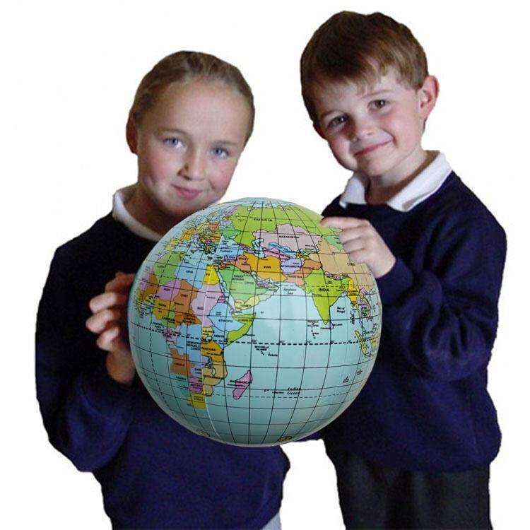 Hình ảnh 1 Pcs 28cm Large Inflatable Earth Globe Toy Beach Ball Teaching Aids Globus Toy
