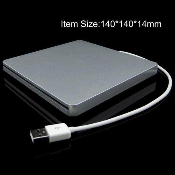 H-MENT Laptop Type Suction Super Slim USB 2.0 Slot In  E*xternal DVD Burner E*xternal Drives Box Enclosure Case