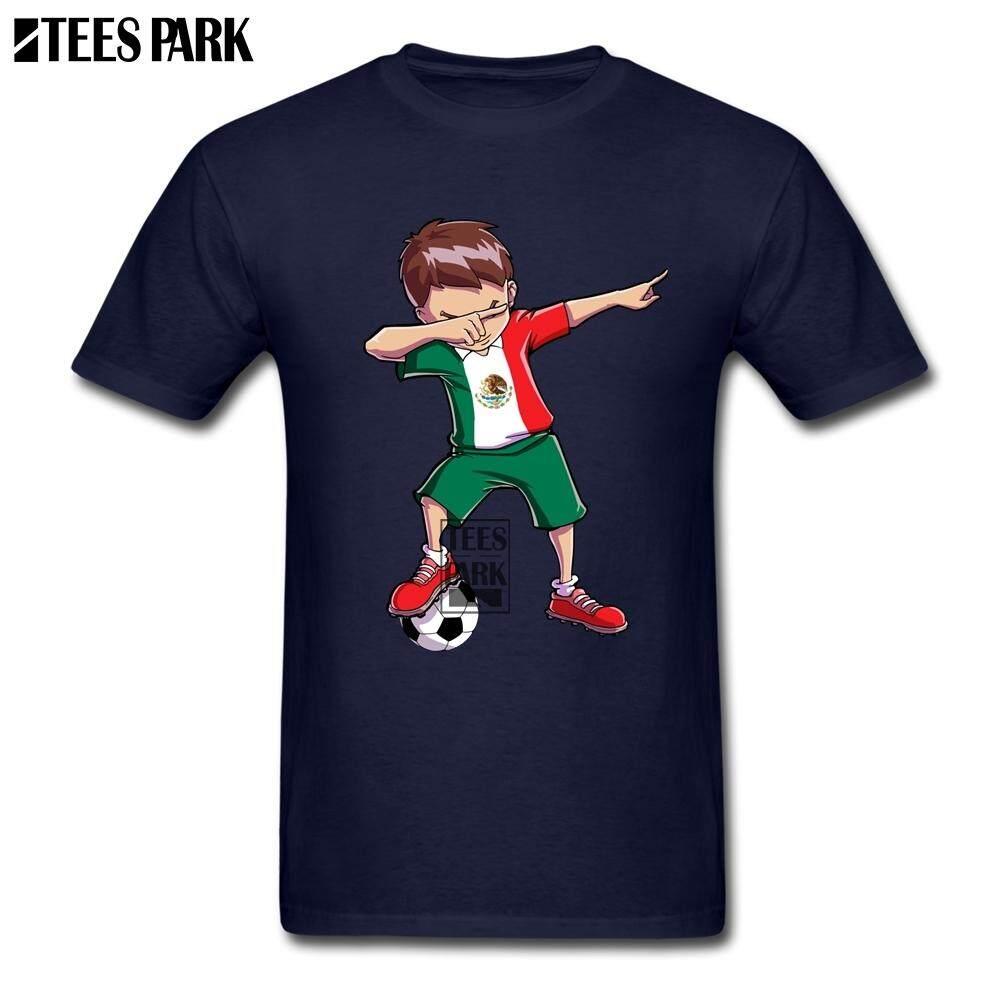 Diy Tee Shirt Dabbing Soccers Mexico Flag Mexican Footballer Gift Cool T  Shirts for Men Slim 761b7903e