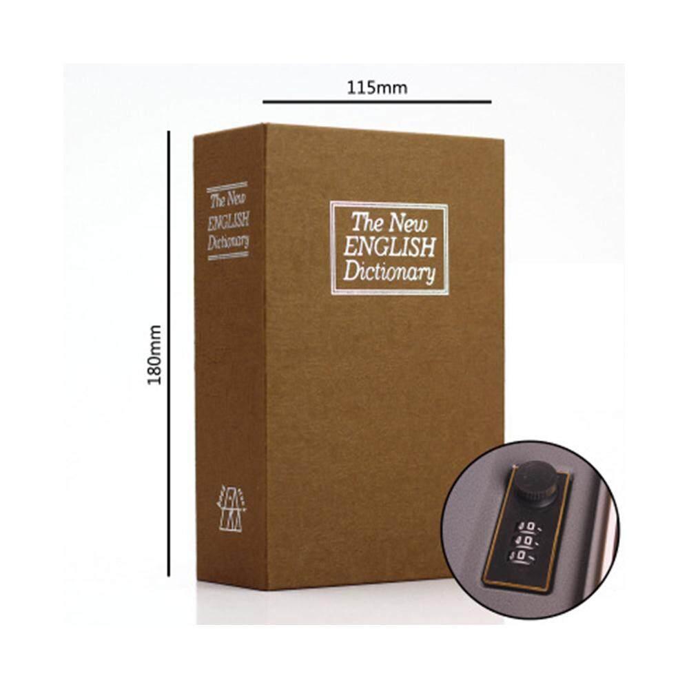 Dictionary Safe Box, Secret Book Money Hidden Security Safe Lock Cash Money Coin Storage Jewelry Password Locker Blue/Red/Brown/Black