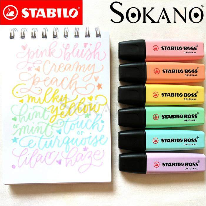 STABILO BOSS Original Pastel Highlighter (6 colors)
