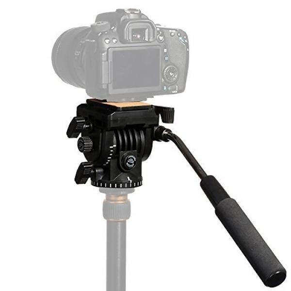 Toazoe Pro Vt-1510 Video Kamera Stativ Tindakan Cairan Drag Pan Kepala F? R Perkakas Bertualang DSLR Kamera Camcorder Shooting Filmen-Intl