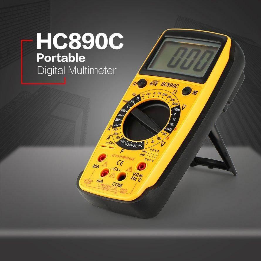 Osman HC890C Multimeter Digital AC/DC Volt Amp Ohm Suhu Diode Penguji HFE