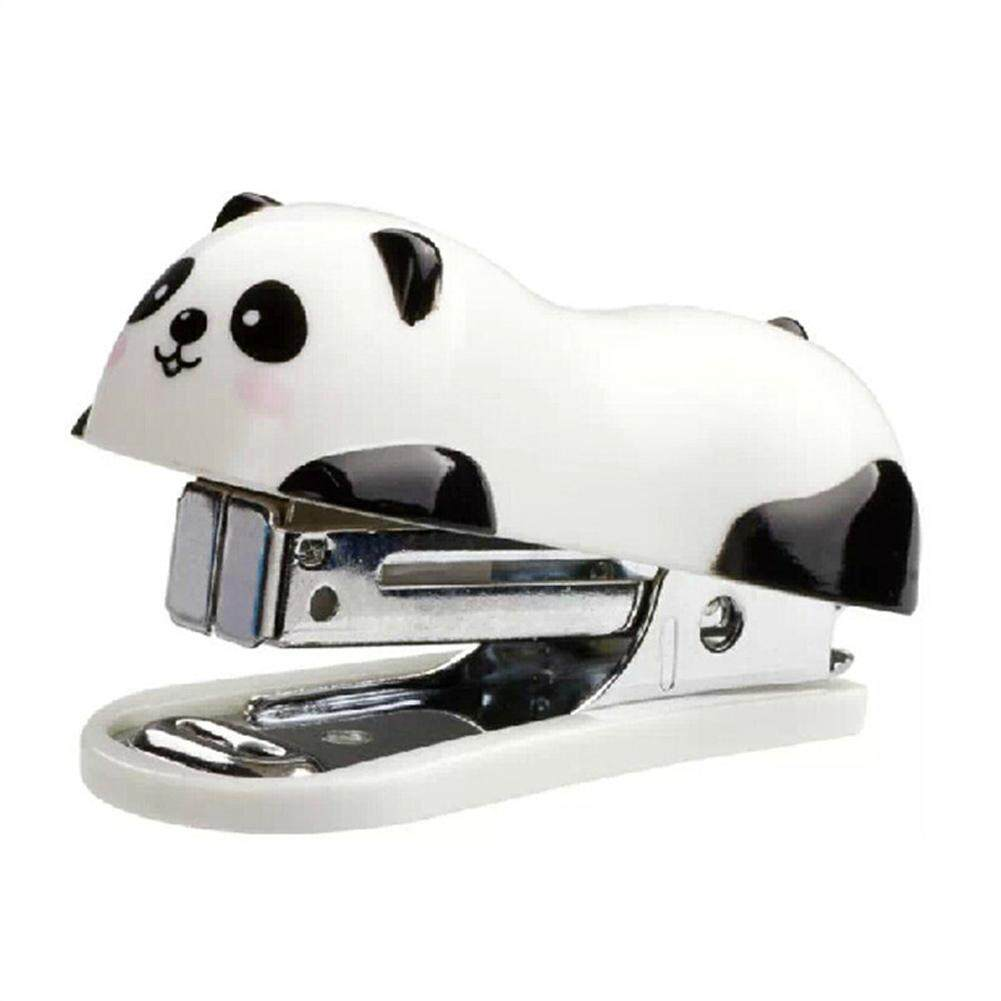 Mini Panda Stapler Office Cartoon Student Small School Paper Document Stapler By Beautyzy.