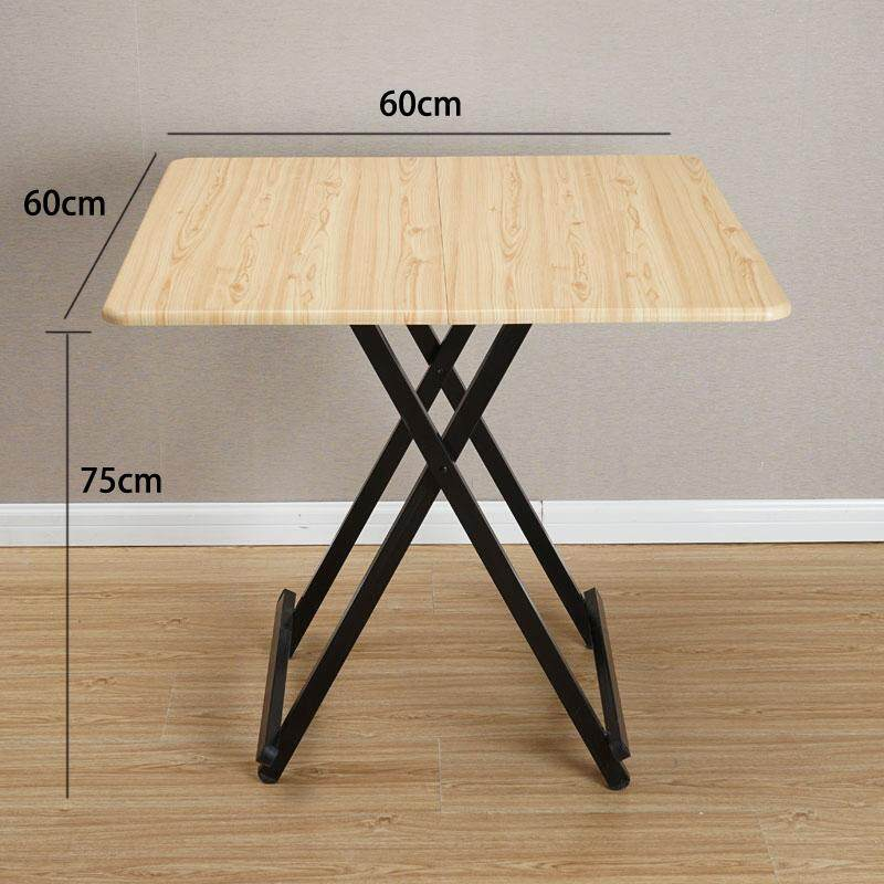RuYiYu - 60x60x75CM/L W H, Special Simple Foldable Square Dining Table, Snack Table Set,Drop-leaf Table, Folding Table, Drop-leaf Table