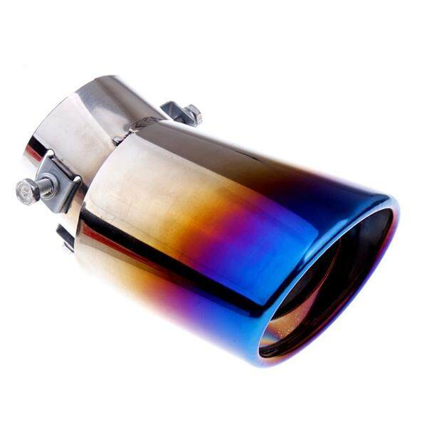Universal Car Exhaust Muffler Stainless Steel Car Exhaust Tail Tip Pipe  Cover Muffler (Curved Style)