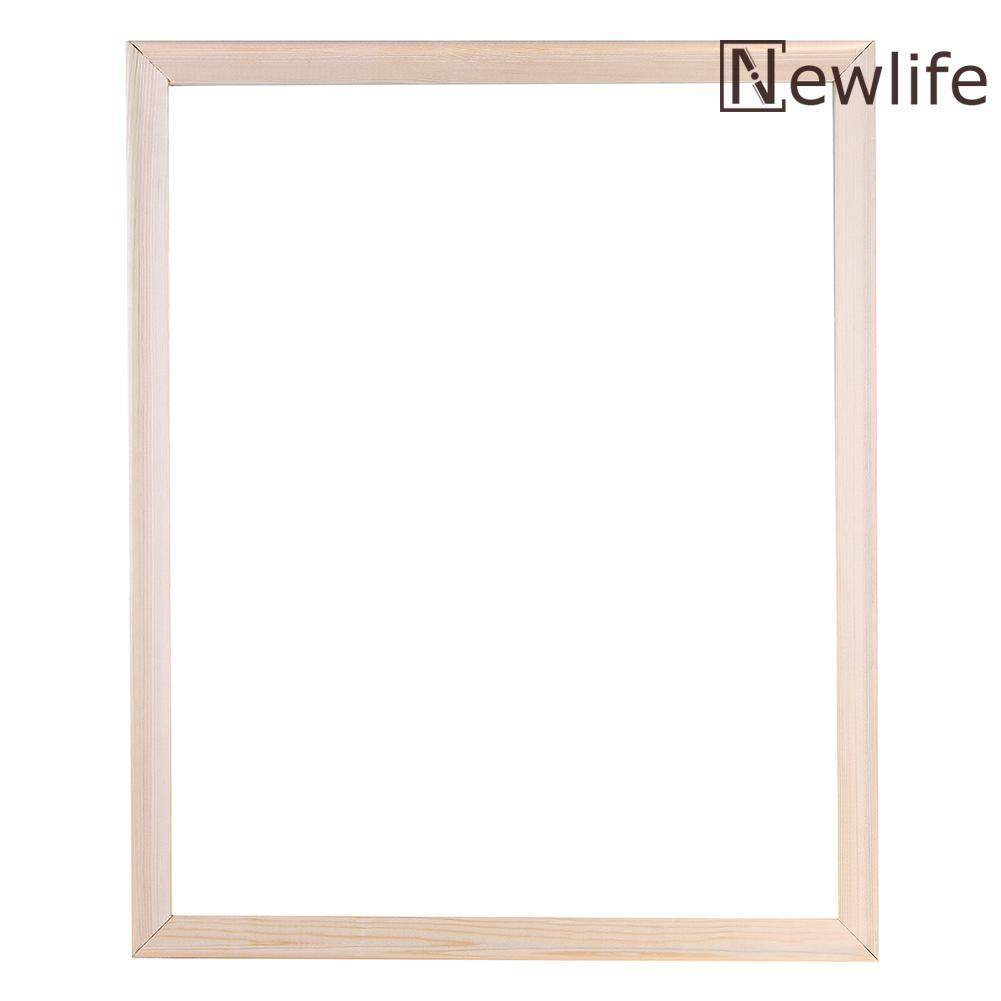 Hình ảnh DIY Wooden Frame for Canvas Oil Painting Artistic Picture Photo Decorative - intl