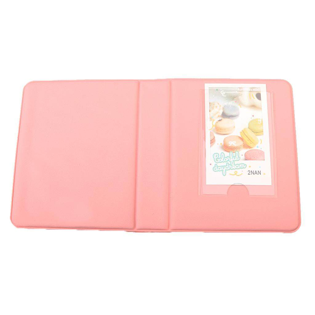 Miracle Shining Photo Album Box Book for Fuji Polaroid Instax Mini Film Case Pink