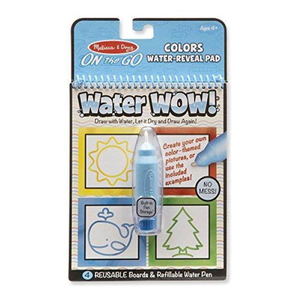 Melissa & Doug On the Go Water Wow! Reusable Water-Reveal Activity Pad - Colors, Shapes