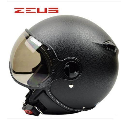 Motorcycle Scooter 3/4 Face Helmet Vintage Capacete For Harley Prince Helmet Zeus 210c /xl - Intl By Audew.