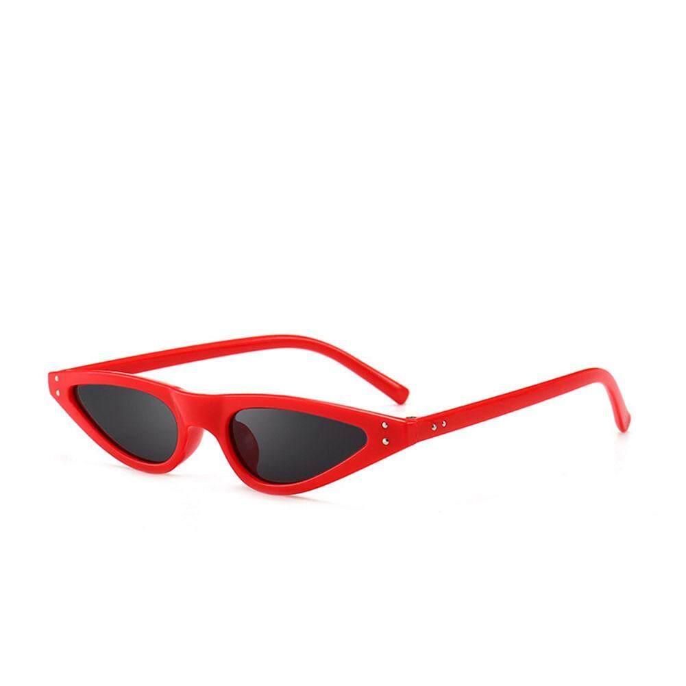 Unisex Mata Kucing Kacamata Fashion Bingkai Kecil Snap Jalan Kaca Mata Hitam Kacamata Warna: Bingkai