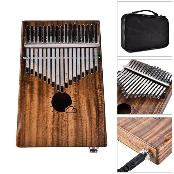 Kalimba phiên 17 Key Keo Ngón Tay Cái Đàn Piano đặt Liên Kết Loa Xe Bán Tải Điện Âm Nhạc Thủ Công Quà Tặng (Mặt Trời Đám Mây) với Tuner Búa/Bài Hát Cuốn Sách Nhãn Dán//Túi/Làm Sạch Vải/3M Cáp