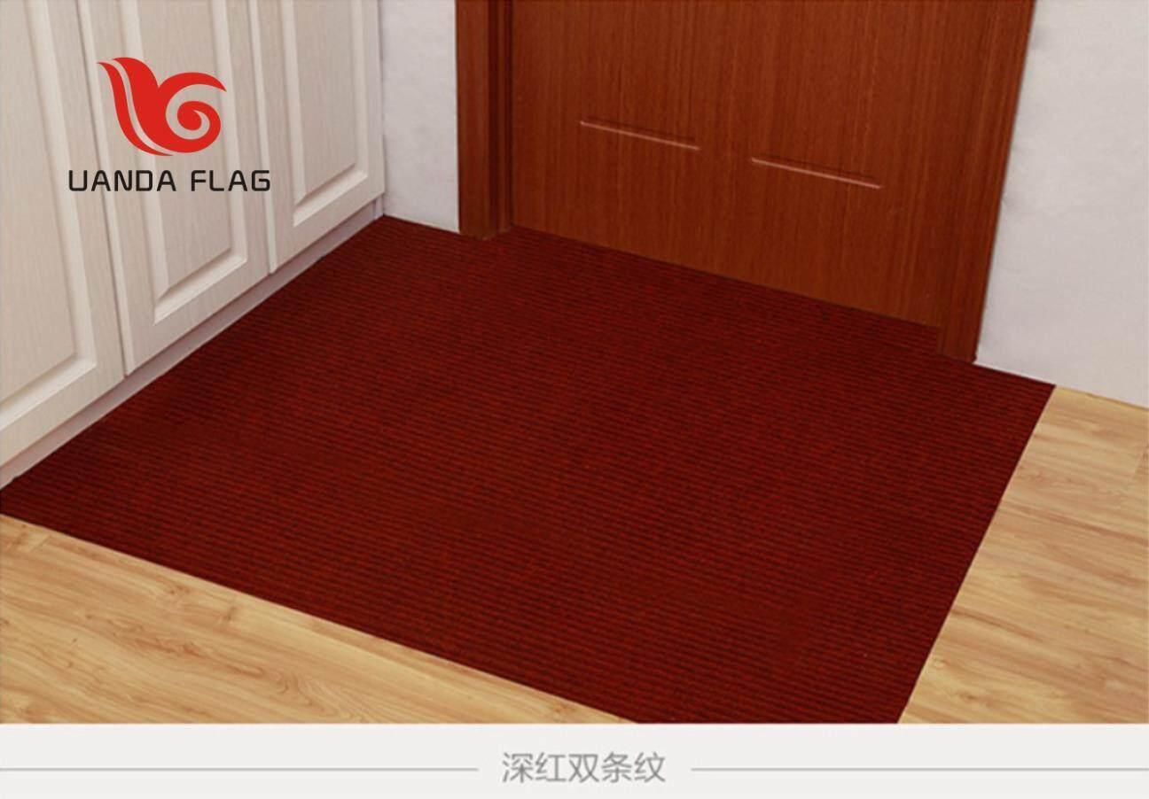 Double Stripe Pressure Side Welcome To Carpet Door Mat Pvc Anti Slip Bath Mat. (80120CM)