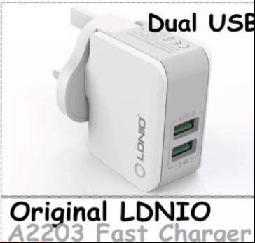 Original LDNIO A2203 Travel Phone Charger 2 Ports 2.4A Fast Charge