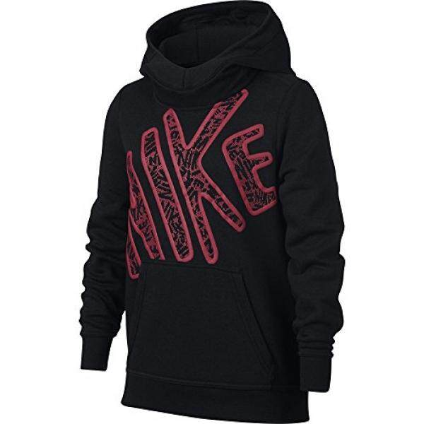sports shoes dd930 98772 Nike Girls Club Graphic Hoodie - intl
