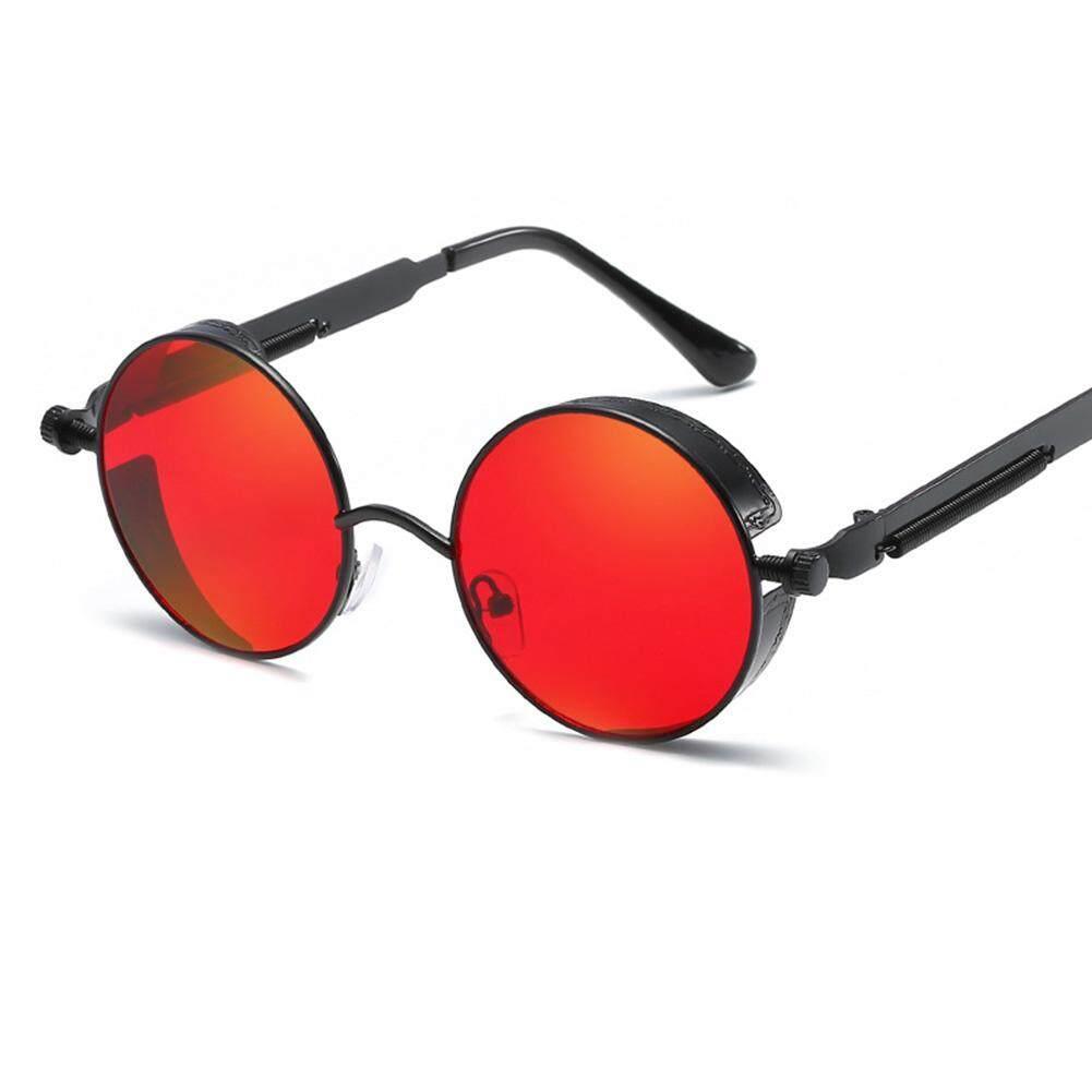 Qimiao Bergaya Bingkai Bulat Logam Kacamata Hitam dengan Kaki Musim Semi untuk Snap Jalan Hadiah Ulang