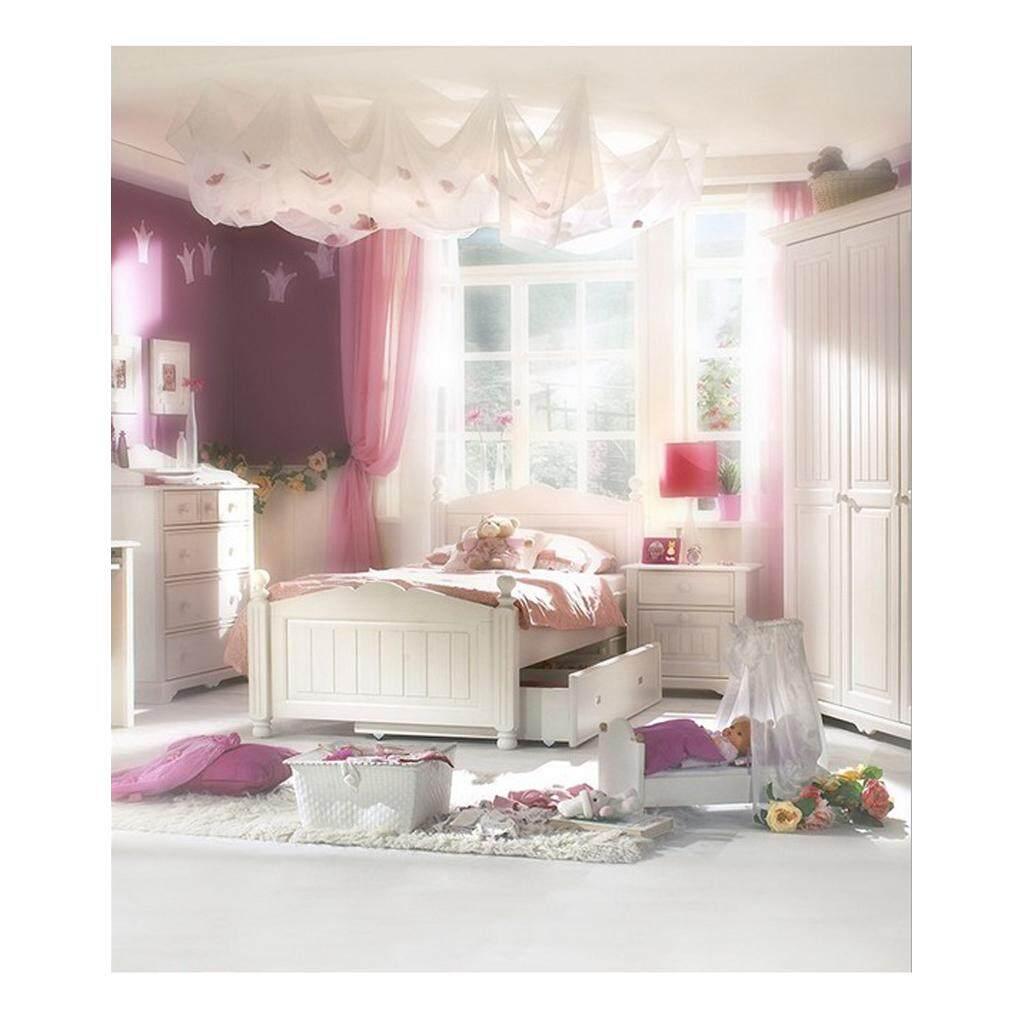 Hình ảnh BolehDeals 50*90cm Digital Cloth Backdrop Background for BJD Barbie Blythe Doll Photography Accessories European Style Bedroom Scenes