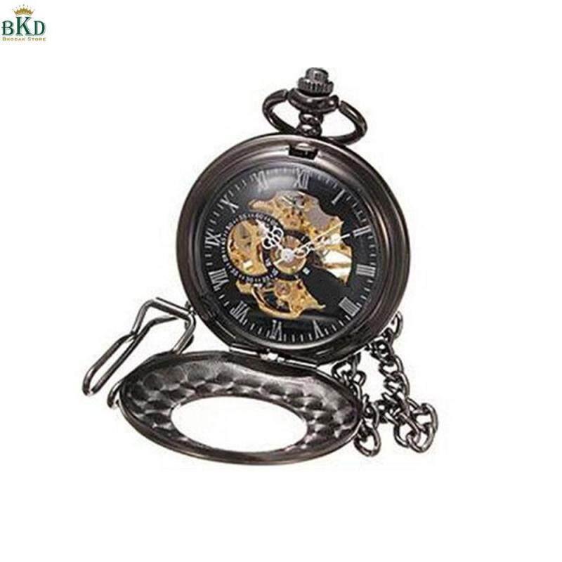 Bkodak Store Mechanical Alloy Pocket Watch Retro Hanging Men Clock Malaysia