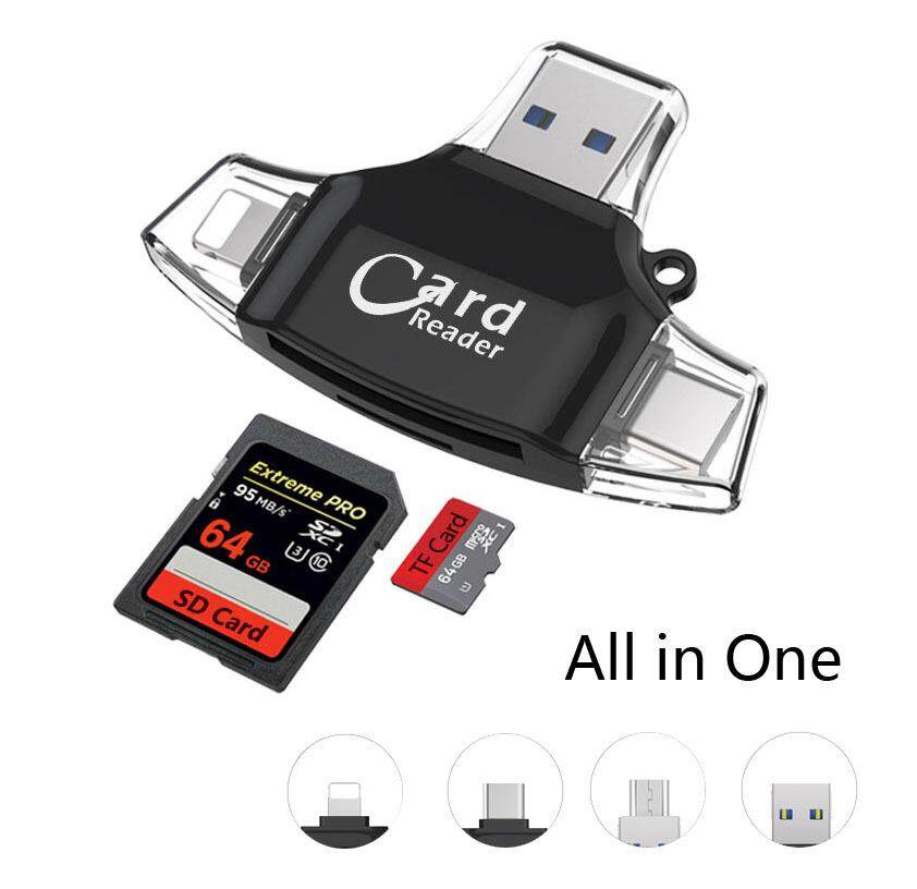 Type c/Micro USB/USB TF SD Card Reader For iPad for iPhone x 7 8 plus 5 6 6s,Memory Card Reader For Samsung S8+ S6 S7 Android