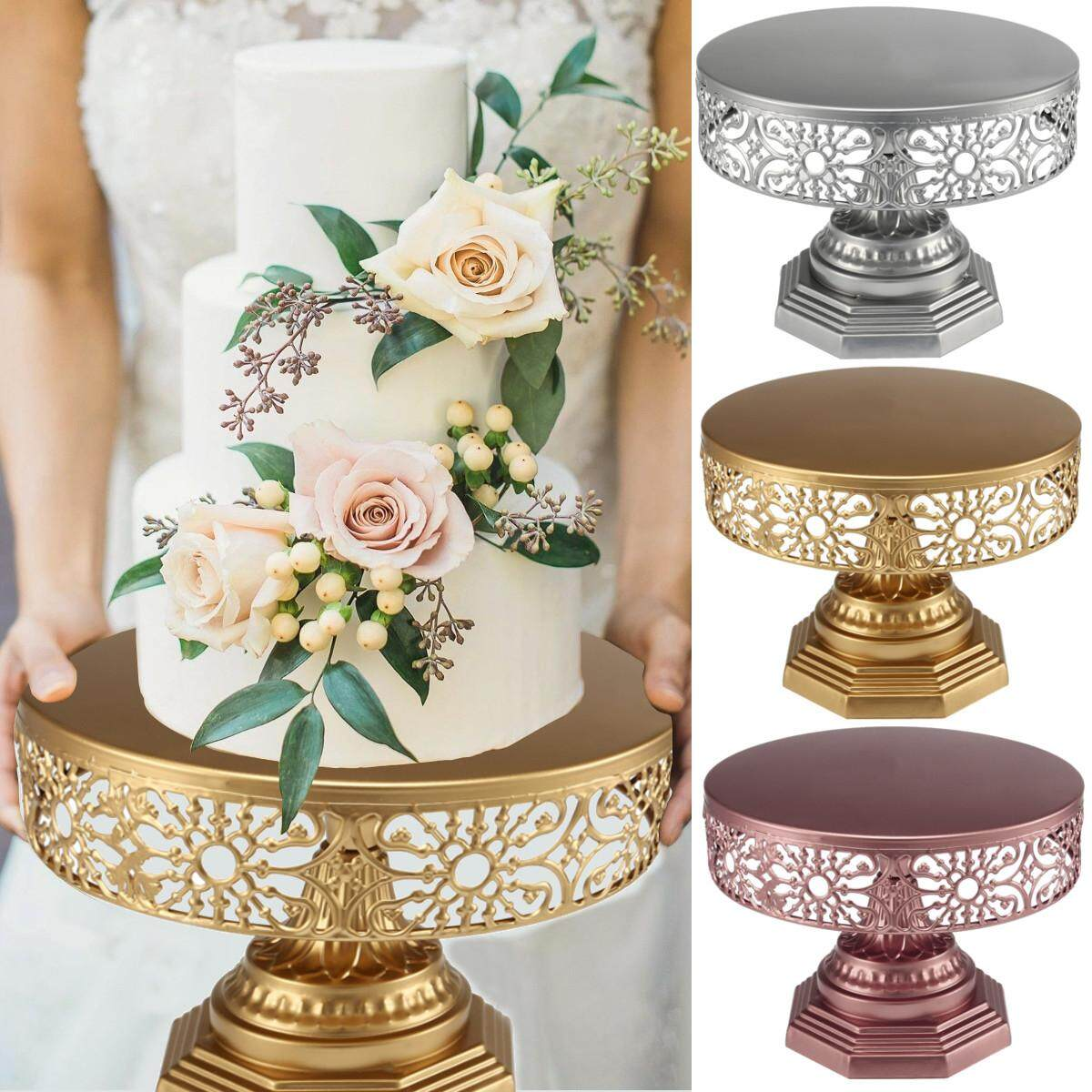 12-Inch Wedding Cake Stand Round Metal Event Party Display Pedestal Plate Tower By Glimmer.